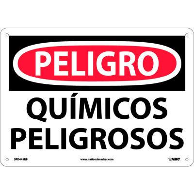 Spanish Plastic Sign - Peligro Quimicos Peligrosos