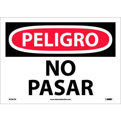 Spanish Vinyl Sign - Peligro No Pasar