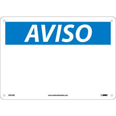 Spanish Plastic Sign - Aviso Blank