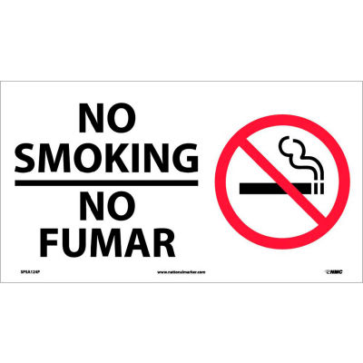 Bilingual Vinyl Sign - No Smoking