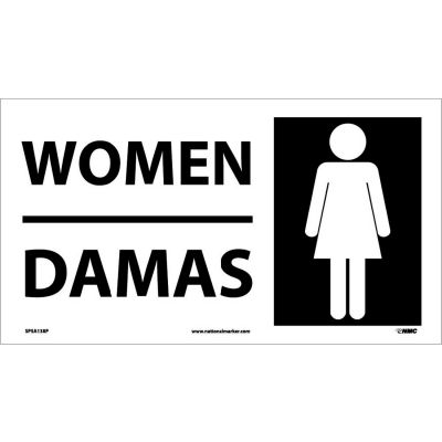 Bilingual Vinyl Sign - Women