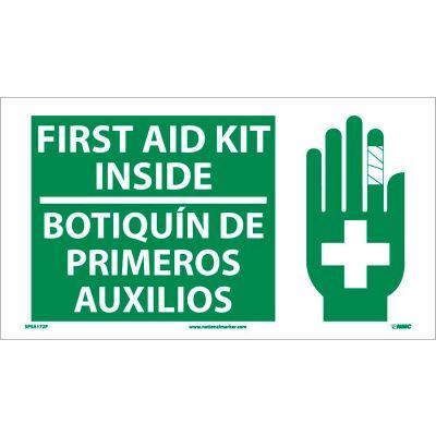 Bilingual Vinyl Sign - First Aid Kit Inside