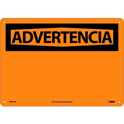 Spanish Aluminum Sign - Advertencia Blank