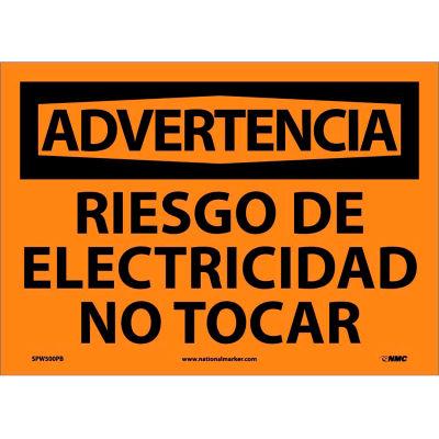 Spanish Vinyl Sign - Advertencia Riesgo De Electricidad No Tocar