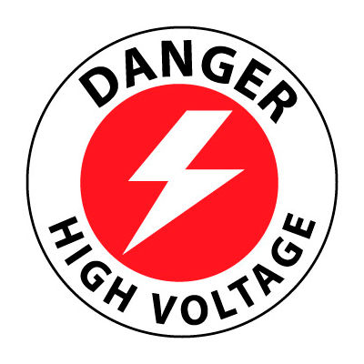 Walk On Floor Sign - Danger High Voltage