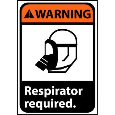 Warning Sign 14x10 Rigid Plastic - Respirator Required