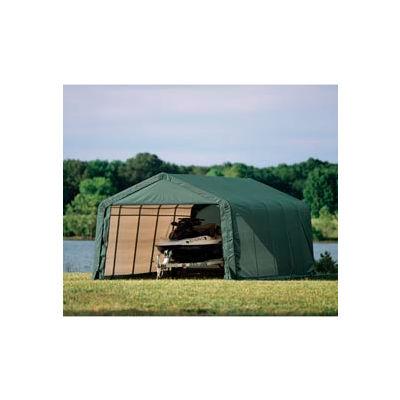 12x24x8 Peak Style Shelter - Green