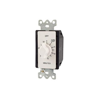 NSI TORK® A530MW 30 Minute Spring Wound Twist Timer, 125-277V, SPDT, White