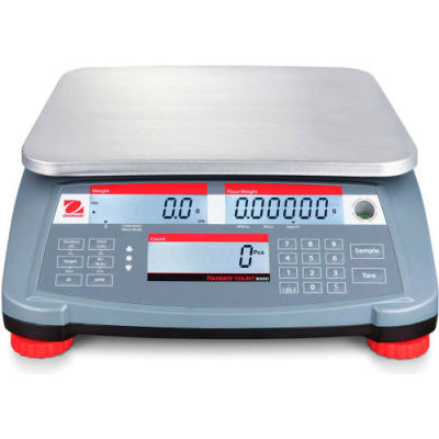 """Ohaus® Ranger Count 3000 Compact Digital Counting Scale 6lb x 0.002lb 11-13/16"""" x 8-7/8"""""""