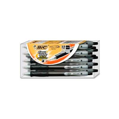 Bic® Velocity Ballpoint Pen, Medium, Black Ink, Dozen