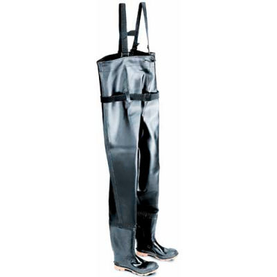 """Onguard Men's, 56.6"""" Chest Wader Black Plain Toe W/Cleated Outsole, PVC, Size 7"""