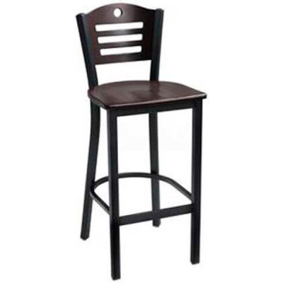 "Cherry 3 Slat-Back Bar Stool 17-1/2""W X 16""D X 42""H - Pkg Qty 2"