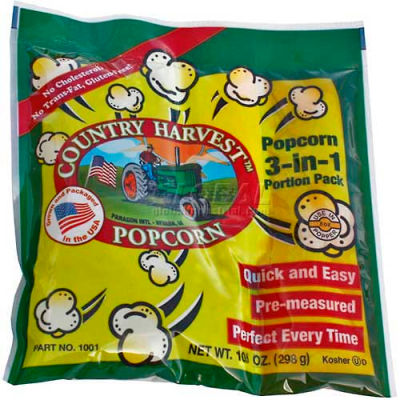 Paragon 1101 Country Harvest Tri-Pack 8oz poppers, 40 sachets-portions