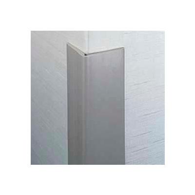 "Flexible Vinyl Corner Guard, 2-1/2"" Wings, 3/16"" Radius, 4'H, Polar WH, Heavy Duty Flexible Vinyl"