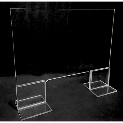 """Freestanding Protective Shield, 30""""W x 30""""H Clear Virgin Acrylic - PATH-552"""