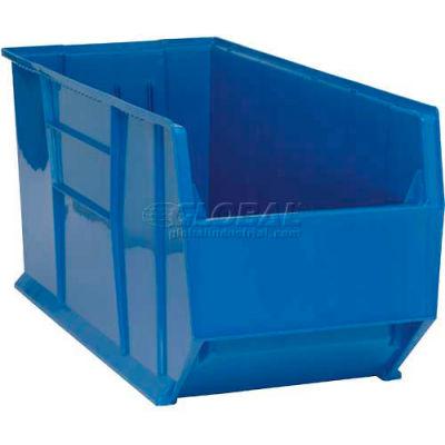 "Quantum Plastic Rack Bin, 16-1/2""W x 41-7/8""D x 17-1/2""H, Blue"