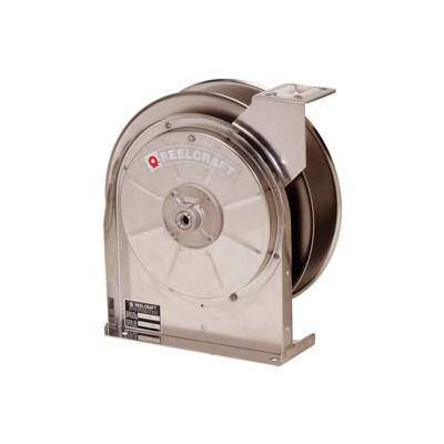 "Reelcraft 5600 OLS 3/8""x35' 500 PSI Low Pressure Stainless Steel Spring Retractable Hose Reel"