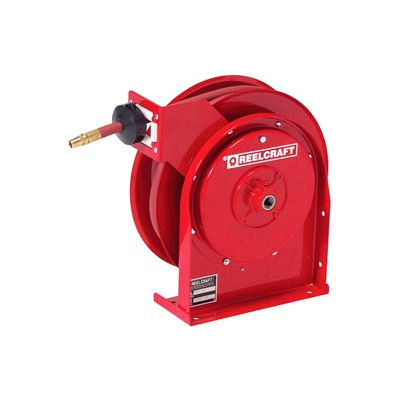 "Reelcraft 5625 OHP 3/8""x25' 4800 PSI Premium Duty All Steel Spring Retractable Compact Hose Reel"