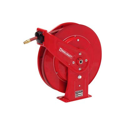 "Reelcraft 7650 OLP 3/8""x50' 300 PSI Heavy Duty Spring Retractable Low Pressure Hose Reel"