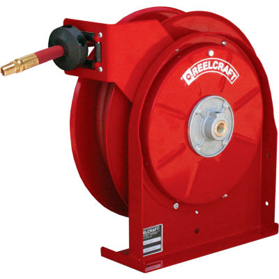 """Reelcraft A5825 OLP 1/2""""x25' 300 PSI Premium Duty All Steel Spring Retractable Compact Hose Reel"""