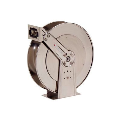 "Reelcraft D83000 OLS 3/4""x75' 500 PSI Stainless Steel Spring Retractable Low Pressure Hose Reel"