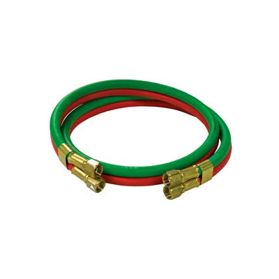 """Reelcraft S600100-4 1/4""""x4' 200 PSI RM-Grade Twin Welding Oxygen/Acetylene Only Hose Assembly"""