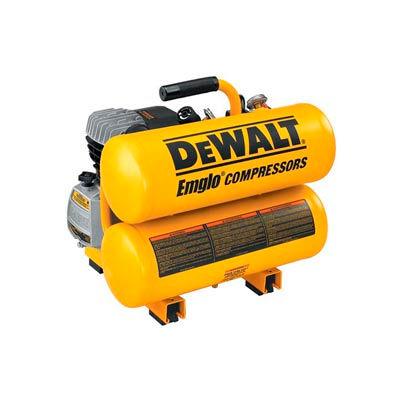 DeWALT® D55153, Portable Electric Air Compressor, 1.1 HP, 4 Gallon, Twin Stack, 4 CFM