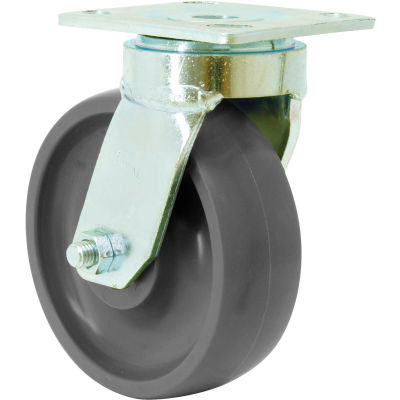 """RWM Casters 48 Series 8"""" GT Wheel Swivel Caster with Face Contact Brake - 48-GTB-0820-S-ICWB"""