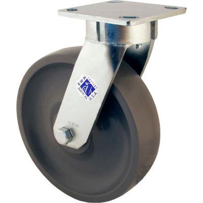 """RWM Casters 8"""" GT Wheel Swivel Caster with Demountable Swivel Lock - 65-GTB-0820-S-DSL"""