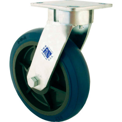 "RWM Casters 8"" Signature™ Wheel Swivel Caster with Demountable Swivel Lock - 65-SWB-0820-S-DSL"
