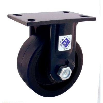"RWM Casters 75 Series 8"" x 3"" Forged Steel Wheel Rigid Caster - 75-FSR-0830-R"