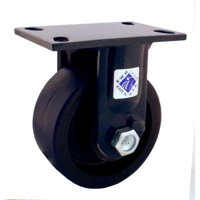 "RWM Casters 75 Series 8"" Nylatron® HD Wheel Rigid Caster - 75-NYB-0830-R"