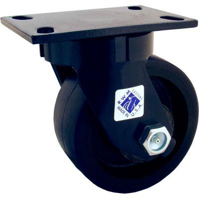 "RWM Casters 75 Series 8"" Nylatron® HD Wheel Swivel Caster - 75-NYB-0830-S"