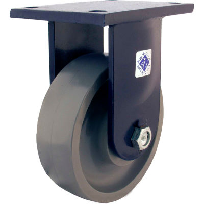 "RWM Casters 96 Series 10"" x 4"" Ultra Thick Urethane Wheel Rigid Caster - 95-UTR-1040-R"