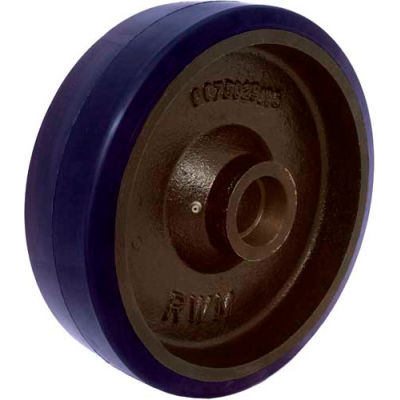 """RWM Casters 6"""" x 1-1/2"""" Urethane on Iron Wheel with Roller Bearing for 1/2"""" Axle - UIR-0615-08"""