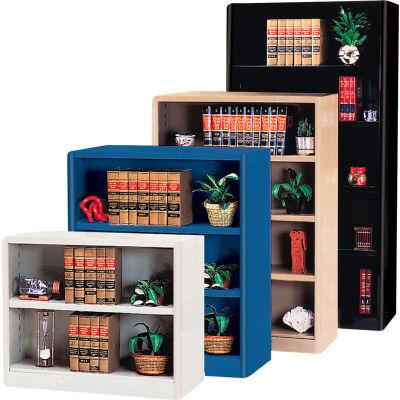 "Radius Edge Bookcase - Black, 36""W x 18""D x 30""H"