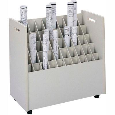 Mobile Roll File - 50 Compartment