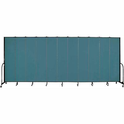 "Screenflex 11 Panel Portable Room Divider, 8'H x 20'5""L, Fabric Color: Lake"