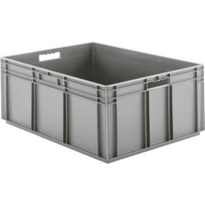 "SSI Schaefer Euro-Fix Solid Container EF8320 - 23-3/4"" x 31-1/2"" x 12-5/8"", Gray - Pkg Qty 2"