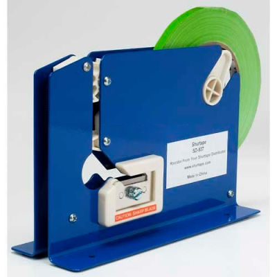 "Shurtape® SD 937 Tabletop Bag Sealing Dispenser, 3/8""W, Blue"