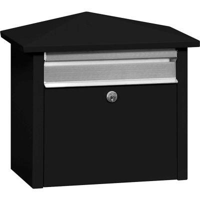 Salsbury Mail House 4750BLK - poste monté ou en saillie, noir