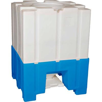 """Bonar Plastics Bottom Discharge Hopper - Closed Top - 2000 Lb. Capacity - 44""""L x 44""""W x 59-1/2""""H"""