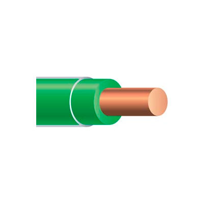 Southwire 11599817 Thhn 10 Gauge Building Wire, Solid Type, Green, 50 Ft - Pkg Qty 4