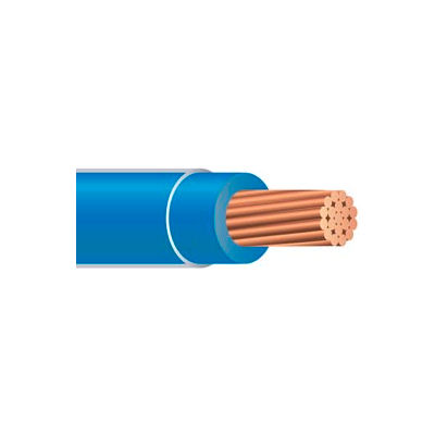 Southwire 20496601 THHN 6 Gauge Building Wire, Stranded Type, Blue, 500 ft