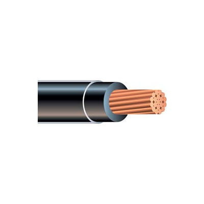 Southwire 20505402 THHN 1/0 Gauge Building Wire, Stranded Type, Black, 500 ft