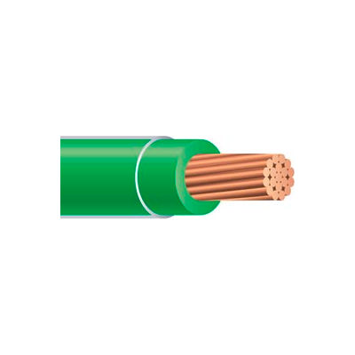 Southwire 22977386 THHN 10 Gauge Building Wire, Stranded Type, Green, 50 Ft - Pkg Qty 2