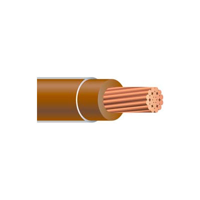 Southwire 23847712 THHN 8 Gauge Building Wire, Stranded Type, Brown, 500 ft