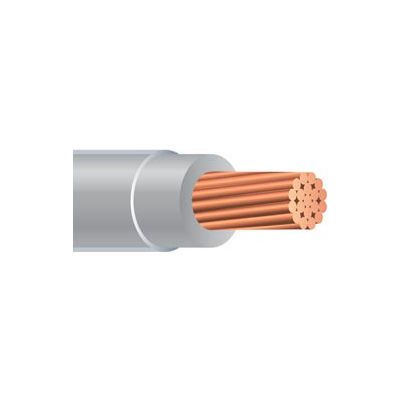 Southwire 25464905 THHN 6 Gauge Building Wire, Stranded Type, Gray, 500 ft