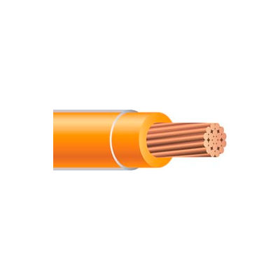 Southwire 26067901 THHN 6 Gauge Building Wire, Stranded Type, Orange, 500 ft