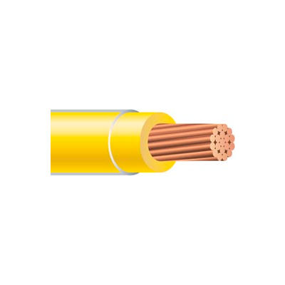 Southwire 26068701 THHN 6 Gauge Building Wire, Stranded Type, Yellow, 500 ft
